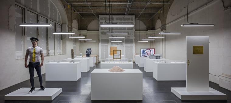 סיימון פוג'יווארה, המוזיאון השמח, טכניקה מעורבת, 2016. מראה הצבה