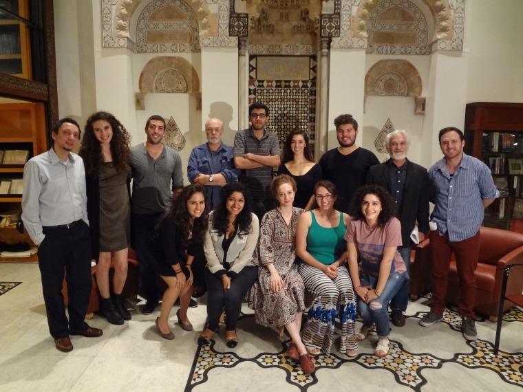 """משתתפי סדנת """"חיים כפולים"""" של MEFI שהתקיימה במרכז האגופ קוורקיאן ללימודי המזרח הקרוב באוניברסיטת ניו יורק (MEFI)"""