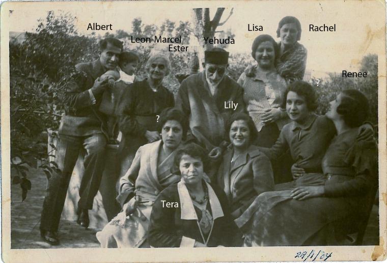 משפחת נהון, בירות 1934  מאלבום משפחת מוגרבי