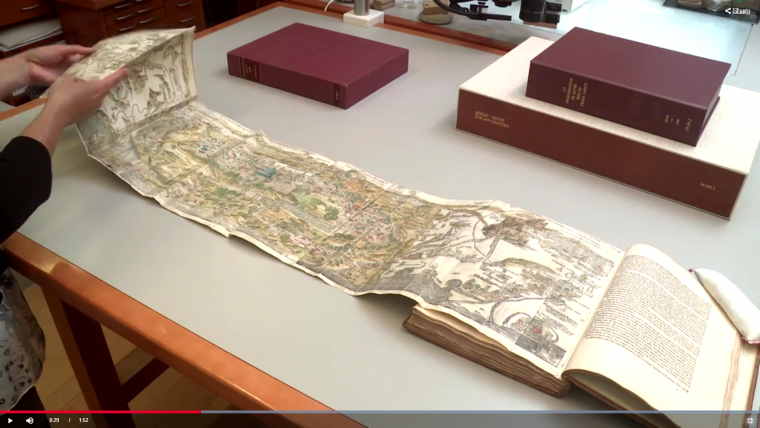 """من فيديو المعرض """"القدس، 1000-1400: الجميع تحت سماء واحدة"""" من المعرض، متحف متروبوليتان للفنون"""