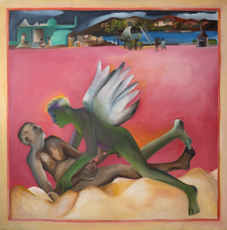 Bhupen Khakhar, Yayati, 1987 Oil on canvas. 170 x 170 cm. Private collection