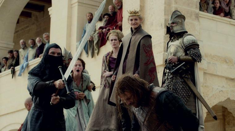قطع رأس نيد ستارك، لعبة العروش الحقوق الفكرية محفوظة لصالح HBO*