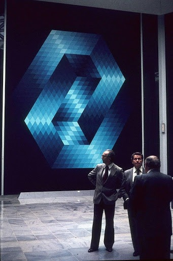 Victor Vasarely at Fondation Vasarely, Aix-en-Provence, France