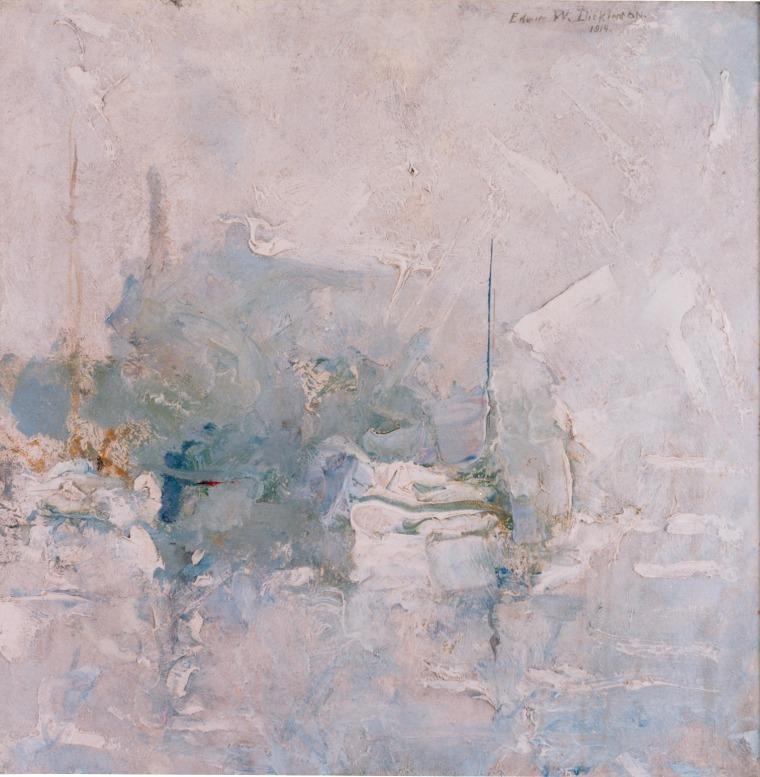 إدوين ديكنسون, Pickert's Wharf III, بروفنستاون، مساشوستس, 1914, زيت على قماش, 50.8X50.8 سم. بلطف: مجموعة إدوين ديكنسون.