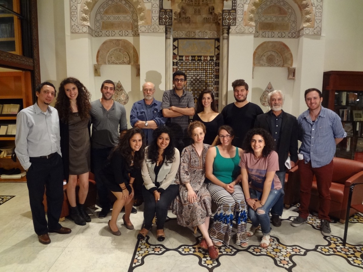 "Cast of MEFI's ""Double Lives"" workshop held at the Hagop Kevorkian Center for Near Eastern Studies at New York University (Credit: MEFI)"