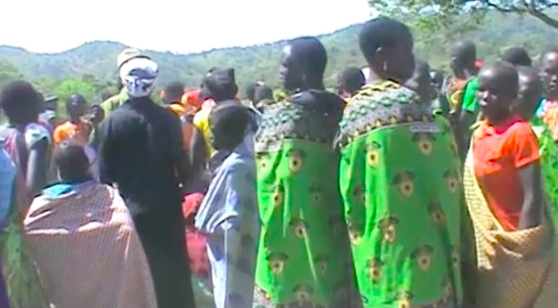 Ngatuba Village is in Budi County,    in Eastern Equatoria, the youth gather for a holiday dance