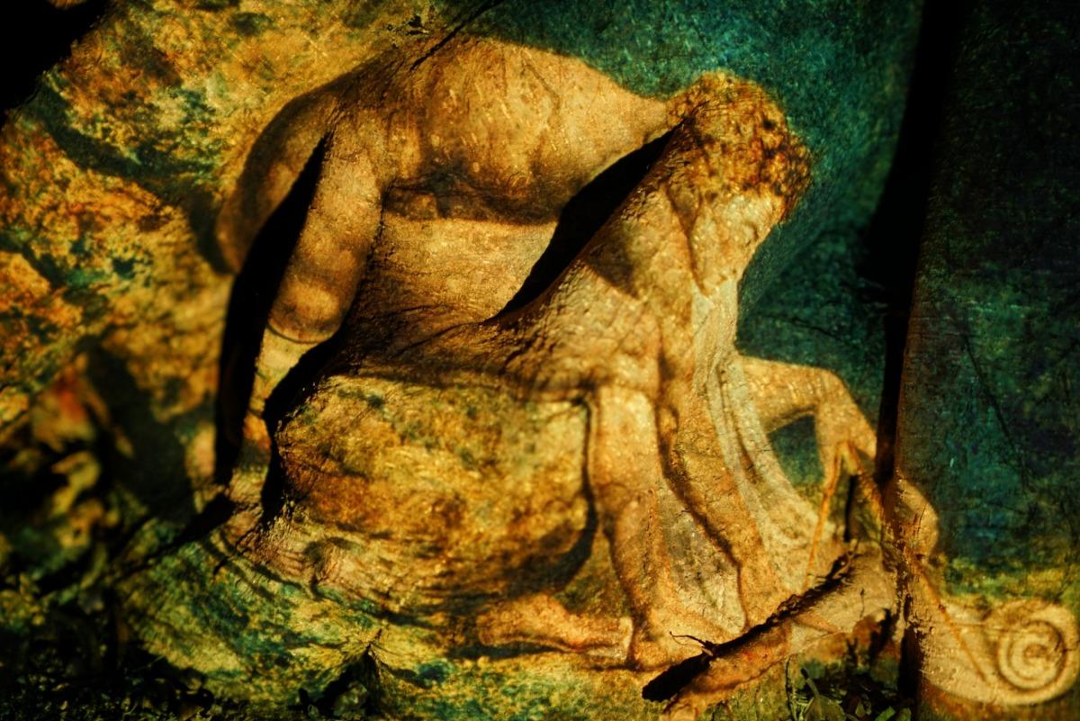 Yoav Ruda, William Blake's Neuton Monotype Organic Remix, 2020, projection photography