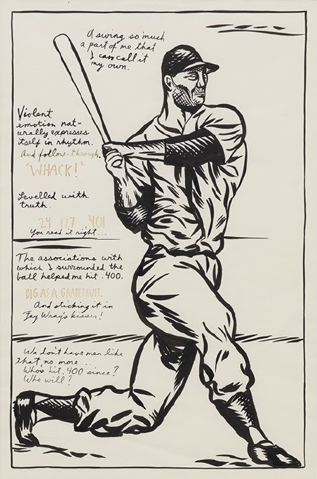 Raymond Pettibon, No Title (A swing so much...), ca. 1999 Pen and ink on paper, 58.4x38.1 Private collection courtesy of David Zwirner
